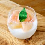 こだわり白桃のブラマンジェ