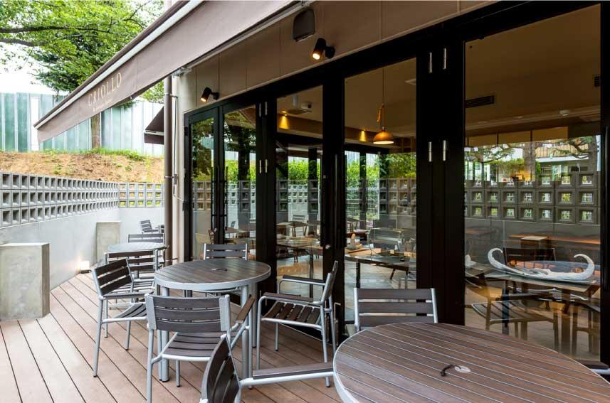 「クリオロ」カフェスペース