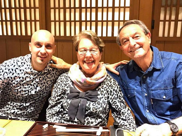 日本での記念写真